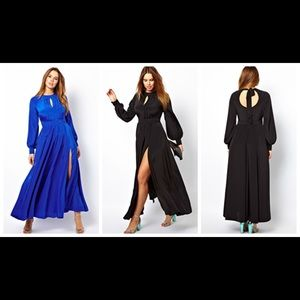 ASOS CURVE MAXI DRESS WITH BELL SLEEVES
